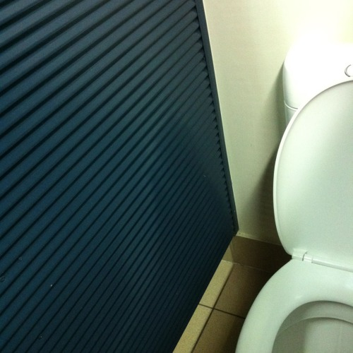 Corrugated walls toilet