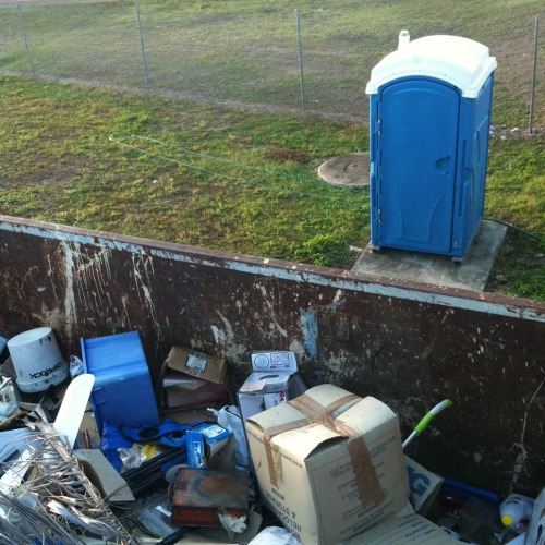 Rubbish dump toilet 1