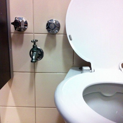 Washroom Taps : Toilet & Tap at an office building on Arthur St, North Sydney