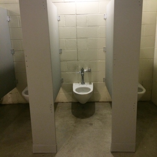 No doors, no seats, no toilet paper