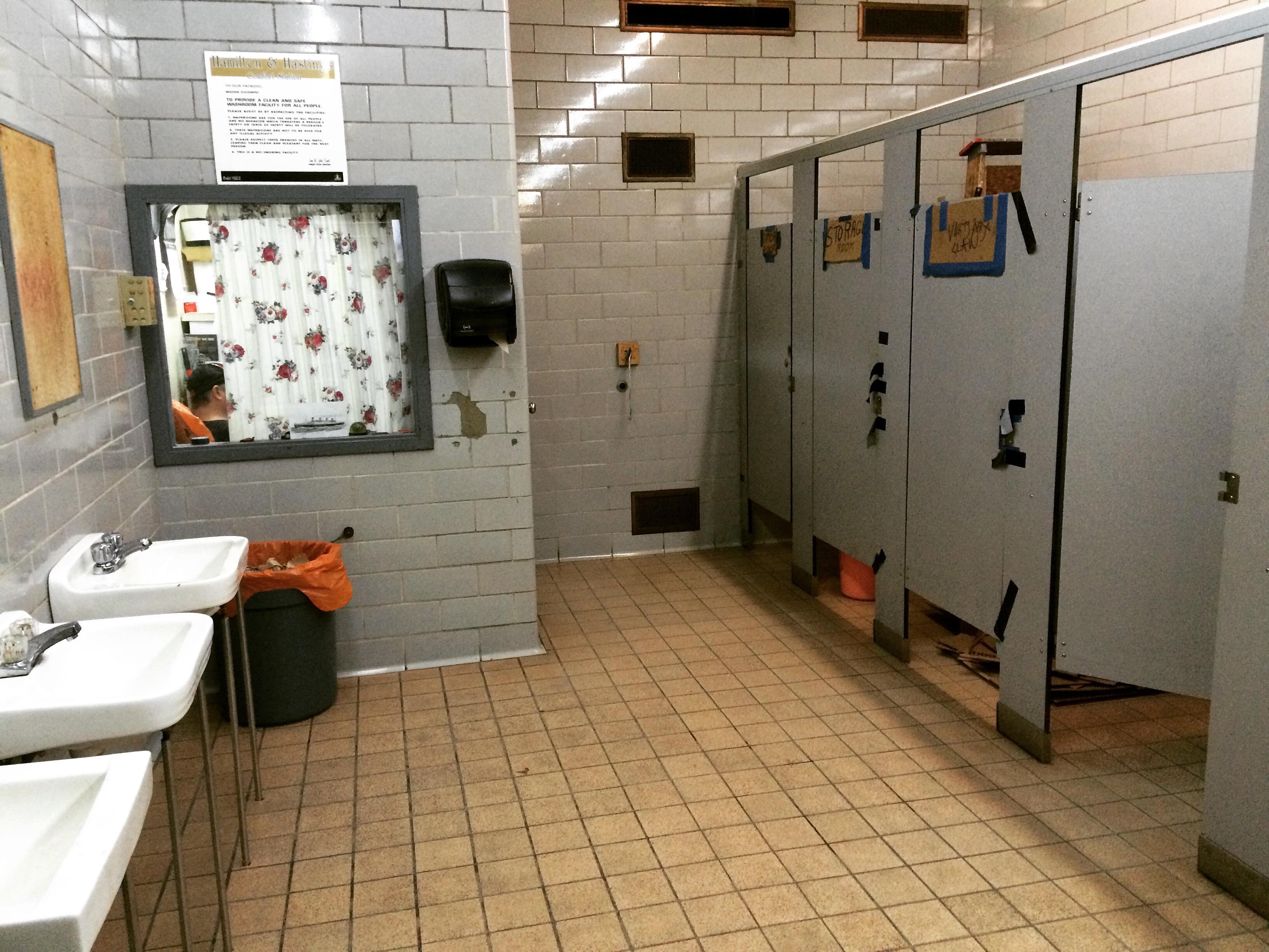 dirty bathroom Underground