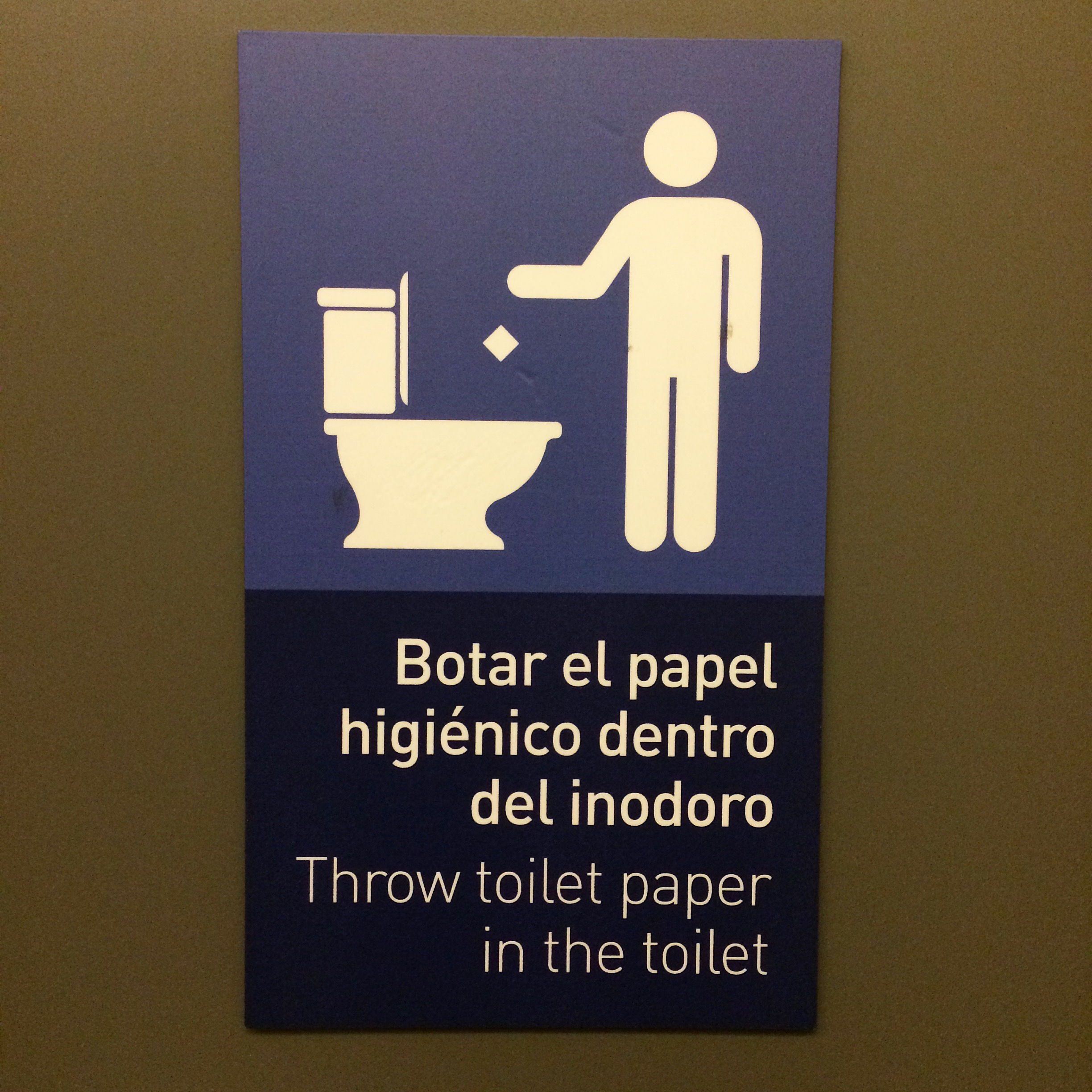 Throw Toilet Paper In The Toilet Toilography